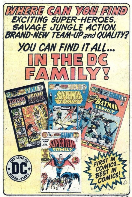 DC family of comics